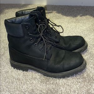 BLACK TIMBERLANDS WOMENS SIZE 9